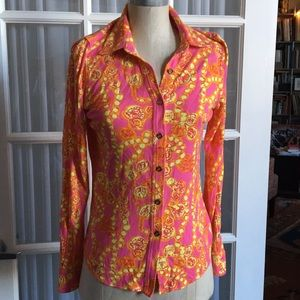Lilly Pulitzer Button Up Top size Medium